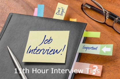 Interview Tips - Job interview Tomorrow!