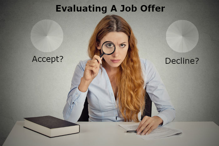 how to evaluate a job offer before accepting it